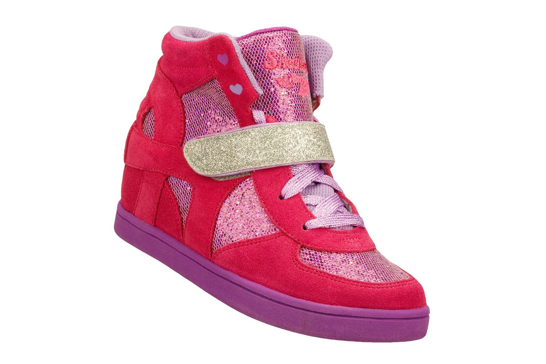 Skechers Girl S Pretty Plus 2 Fashion Wedge Sneaker Pink