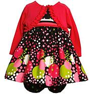 Ashley Ann Infant & Toddler Girl's Shrug/Dress Set 2-Piece Dots at Sears.com