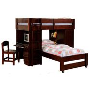 Venetian Worldwide Harford Dark Walnut Finish Twin / Twin Loft Bed. at Sears.com