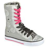 Bongo Girl's Chesney High Top Canvas Sneaker - Silver at Kmart.com