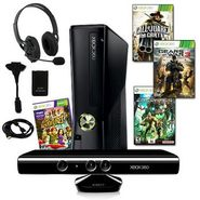 Microsoft XBOX 360 Slim 4GB Kinect Action Bundle with 4 Games and More at Sears.com