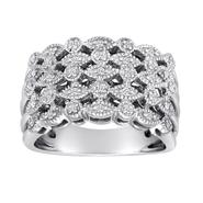 Ella Rose Sterling Silver 1/10 CTTW Diamond Ring at Sears.com