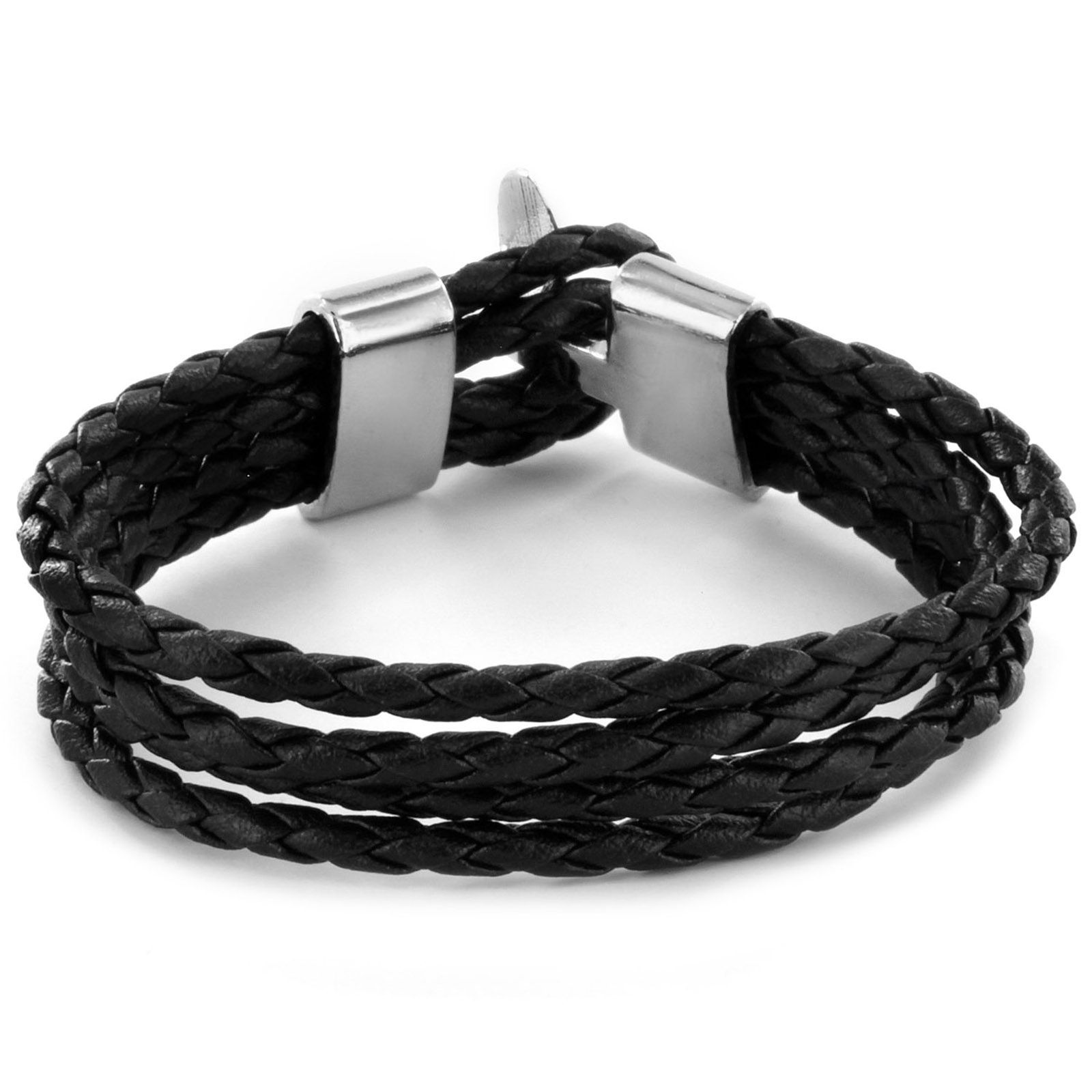 Braided Leather Multi-cord Bracelet