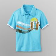 Toughskins Toddler Boy's Embellished Polo Shirt - Skateboards at Sears.com