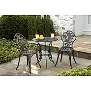 Country Living Cast Iron / Aluminum Bistro Set  - Pewter at Kmart.com