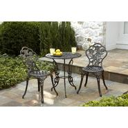Country Living Cast Iron / Aluminum Bistro Set  - Pewter at Sears.com
