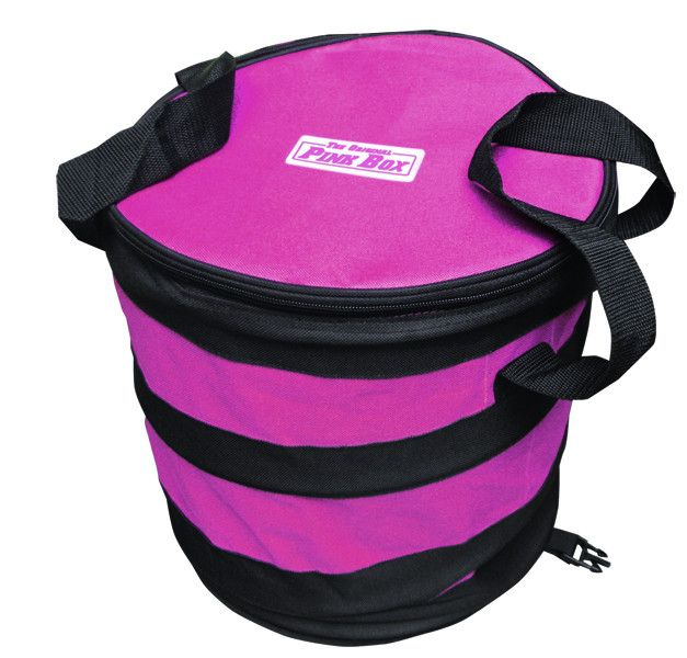 Pink Foldable Bottle Bag