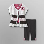 Little Lass Infant & Toddler Girl's Cardigan, Top & Leggings at Sears.com