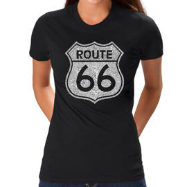 Los Angeles Pop Art Women's Word Art T-Shirt - Cities along The Legendary Route 66 Online Exclusive at Kmart.com