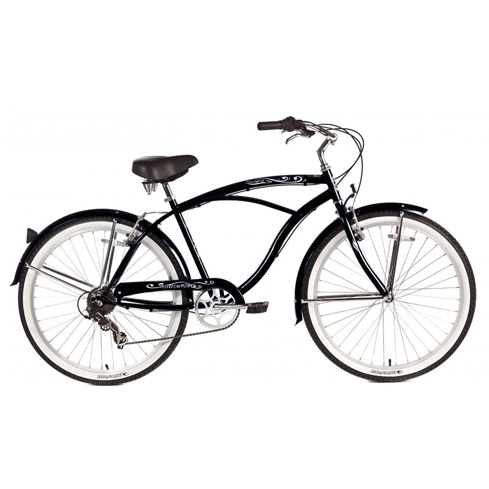 Micargi Black Pantera 7 Speed Beach Cruiser Male