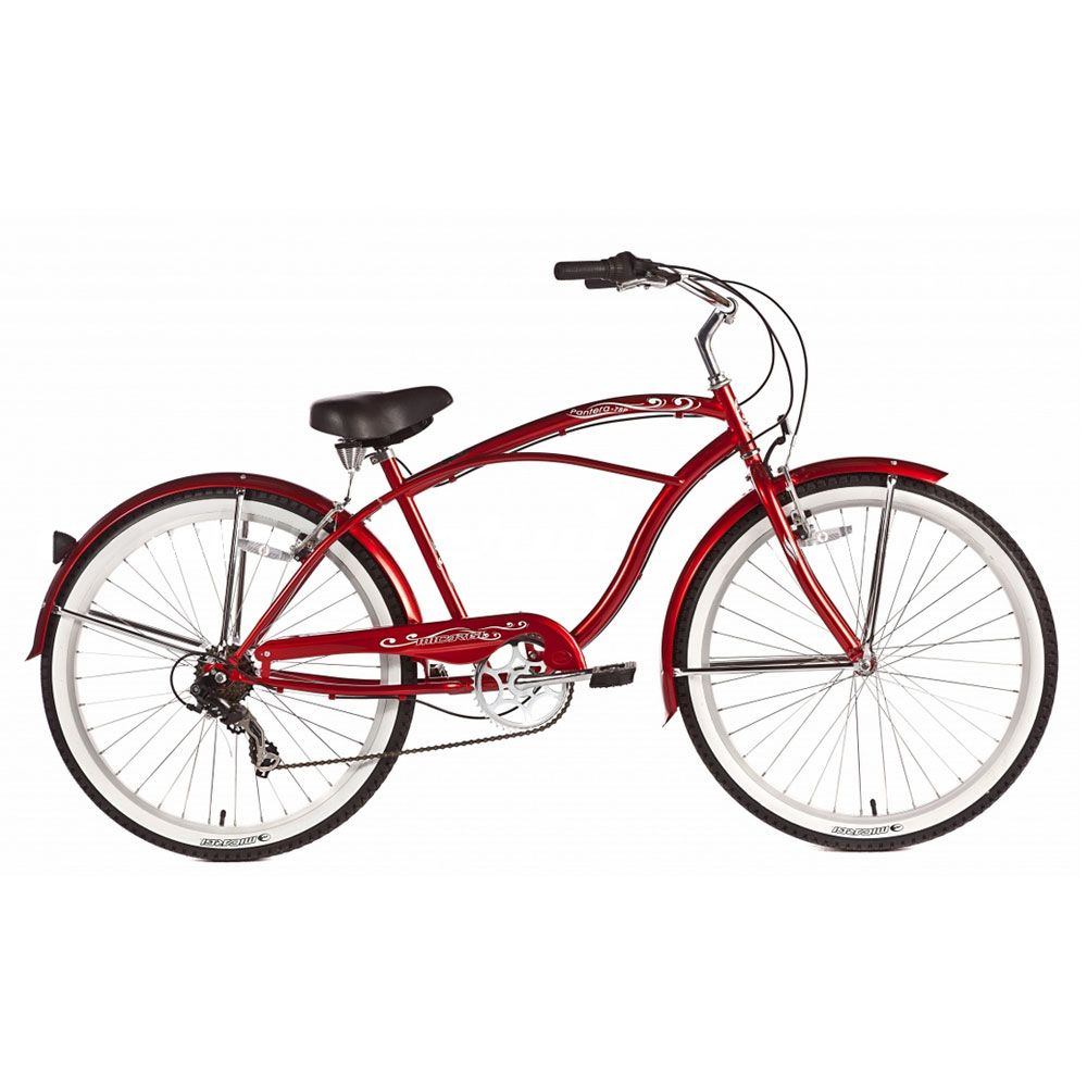 Micargi Red Pantera 7 Speed Beach Cruiser Male
