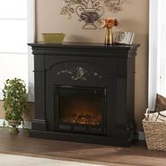 Southern Enterprises Messina Electric Fireplace-Black at Kmart.com