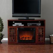 Southern Enterprises Rome Media Electric Fireplace-Mahogany at Kmart.com