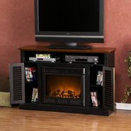 Southern Enterprises Venice Media Electric Fireplace-Black and Walnut at Kmart.com