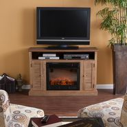 Southern Enterprises Venice Media Electric Fireplace-Weathered Oak at Kmart.com