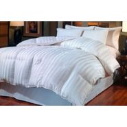 Blueridge Home Fashions 800 Thread Count Cabana Stripe Goose Down Comforter King at Kmart.com
