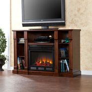 Southern Enterprises Dorset Media Electric Fireplace - Classic Mahogany at Kmart.com
