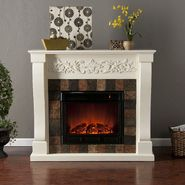 Southern Enterprises Buffalo Electric Fireplace-Ivory at Kmart.com