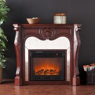 Southern Enterprises Newark Electric Fireplace-Cherry at Kmart.com