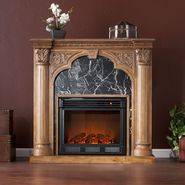 Southern Enterprises Lexington Electric Fireplace-Old World Oak at Kmart.com