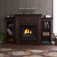Southern Enterprises Palermo Gel Fireplace w/ Bookcases-Espresso at Kmart.com