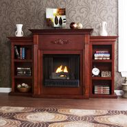 Southern Enterprises Palermo Gel Fireplace w/ Bookcases-Mahogany at Kmart.com