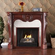 Southern Enterprises Newark Gel Fireplace-Cherry at Kmart.com