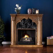 Southern Enterprises Lexington Gel Fireplace-Old World Oak at Kmart.com