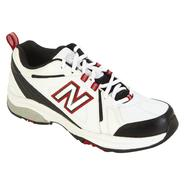 New Balance Men's 608V3 Cross Training Athletic Shoe Wide Width - White/Black/Red at Sears.com
