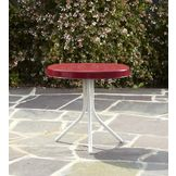 Garden Oasis Retro Steel Table - Red at mygofer.com