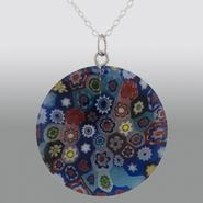 Sterling Silver Round Shaped Colored Glass Pendant at Sears.com