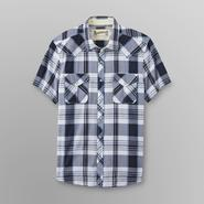 Roebuck & Co. Young Men's Short-Sleeve Sport Shirt - Western Plaid at Sears.com