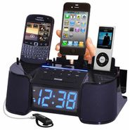 DOK 4 Port Smart Phone Charger with Alarm, Clock, FM Radio at Kmart.com