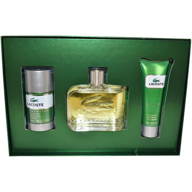 Lacoste Essential by Lacoste for Men - 3 Pc