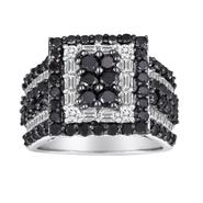 Sterling Silver  3 CTTW Black and White Diamond Ring at Sears.com