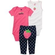Carter's Newborn Girl's Bodysuit/Pants Strawberry 'I'm Super Sweet' 3-pc at Sears.com