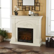 Southern Enterprises Messina Electric Fireplace-Ivory at Kmart.com