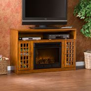 Southern Enterprises Rome Media Electric Fireplace-Glazed Pine at Kmart.com