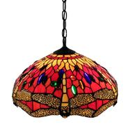 Warehouse of Tiffany Tiffany Style Red Dragonfly Hanging Lamp at Sears.com