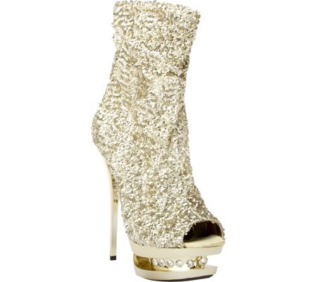 The Highest Heel  Women's Diamond-31 - Gold Sequin