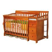 Dream On Me 4 in 1 Brody Convertible Crib with Changer, Pecan at Kmart.com
