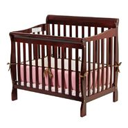Dream On Me, Aden Convertible 3 in 1 Mini Crib In Cherry at Sears.com