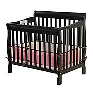 Dream On Me, Aden Convertible 3 in 1 Mini Crib Black at Kmart.com