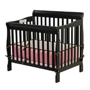 Dream On Me, Aden Convertible 3 in 1 Mini Crib Black at Sears.com