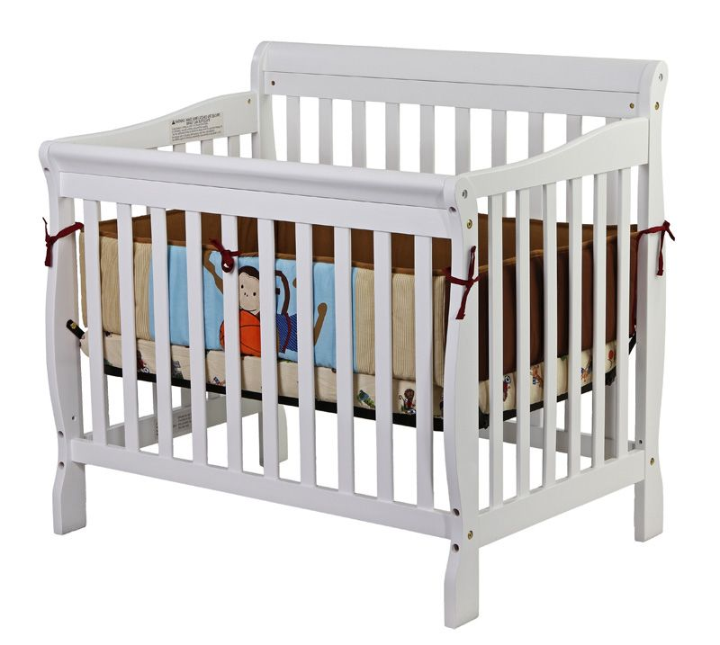 Dream On Me, Aden Convertible 3 in 1 Mini Crib white                                                                             at mygofer.com