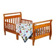 Dream On Me Sleigh Toddler Bed, Pecan at Sears.com