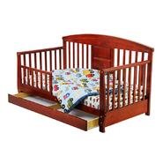 Dream On Me Deluxe Toddler Day Bed with Storage Drawer, Cherry at Sears.com