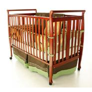 Dream On Me Bella II 2 in 1 Convertible Sleigh Crib Cherry at Sears.com