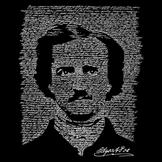 Los Angeles Pop Art Men's Word Art Hooded Sweatshirt - Edgar Allen Poe - The Raven at mygofer.com
