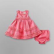Rare Too Infant and Toddler  Girl's Ruffle Dress & Diaper Cover at Sears.com